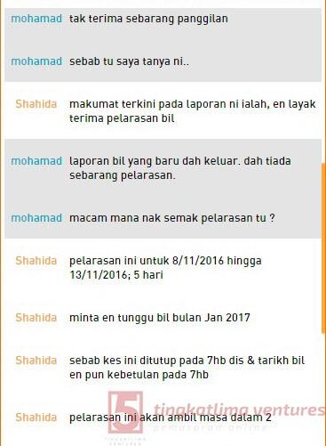 Rebet TM Streamyx - Panduan Tuntutan Rebet Live Chat 8