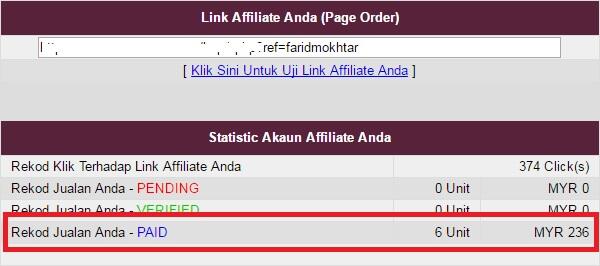 RM1000 pertama dengan affiliate ! 2