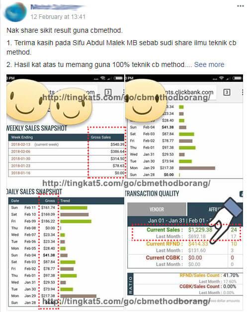 Pelajari Bagaimana Mereka Ini Jana Pendapatan USD Dengan Promot Produk Tanpa FB Ads 2